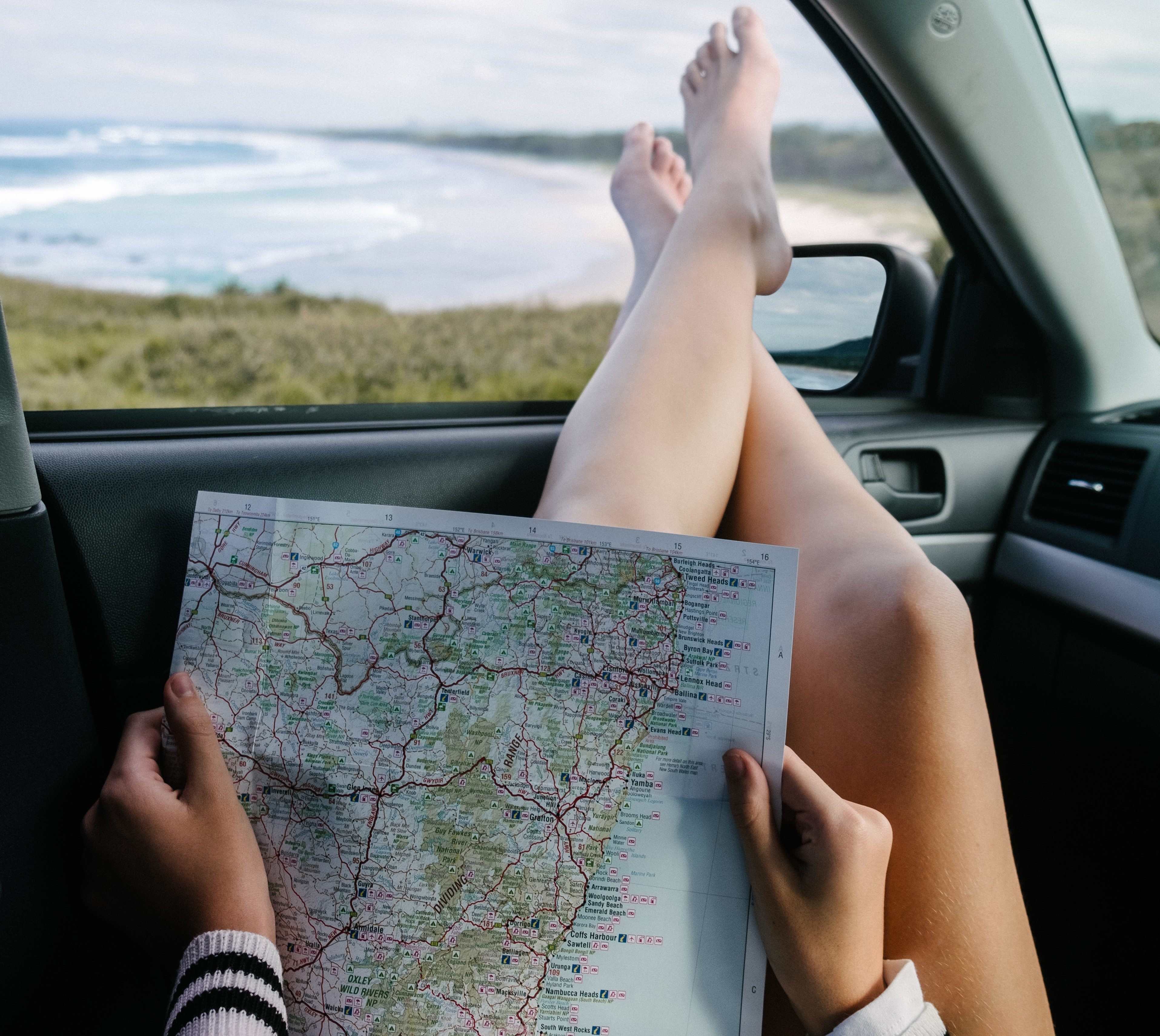 viagem road trip mapa