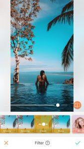 Side pool filter slide