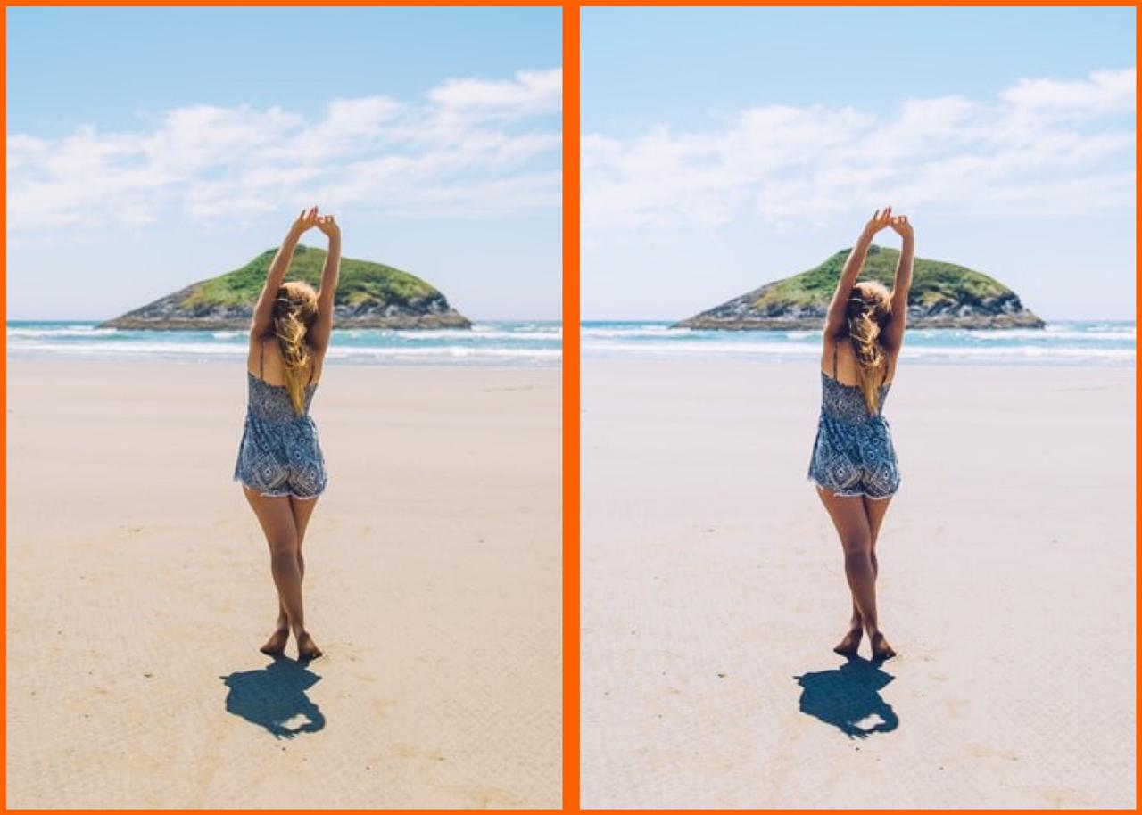 linda foto na praia