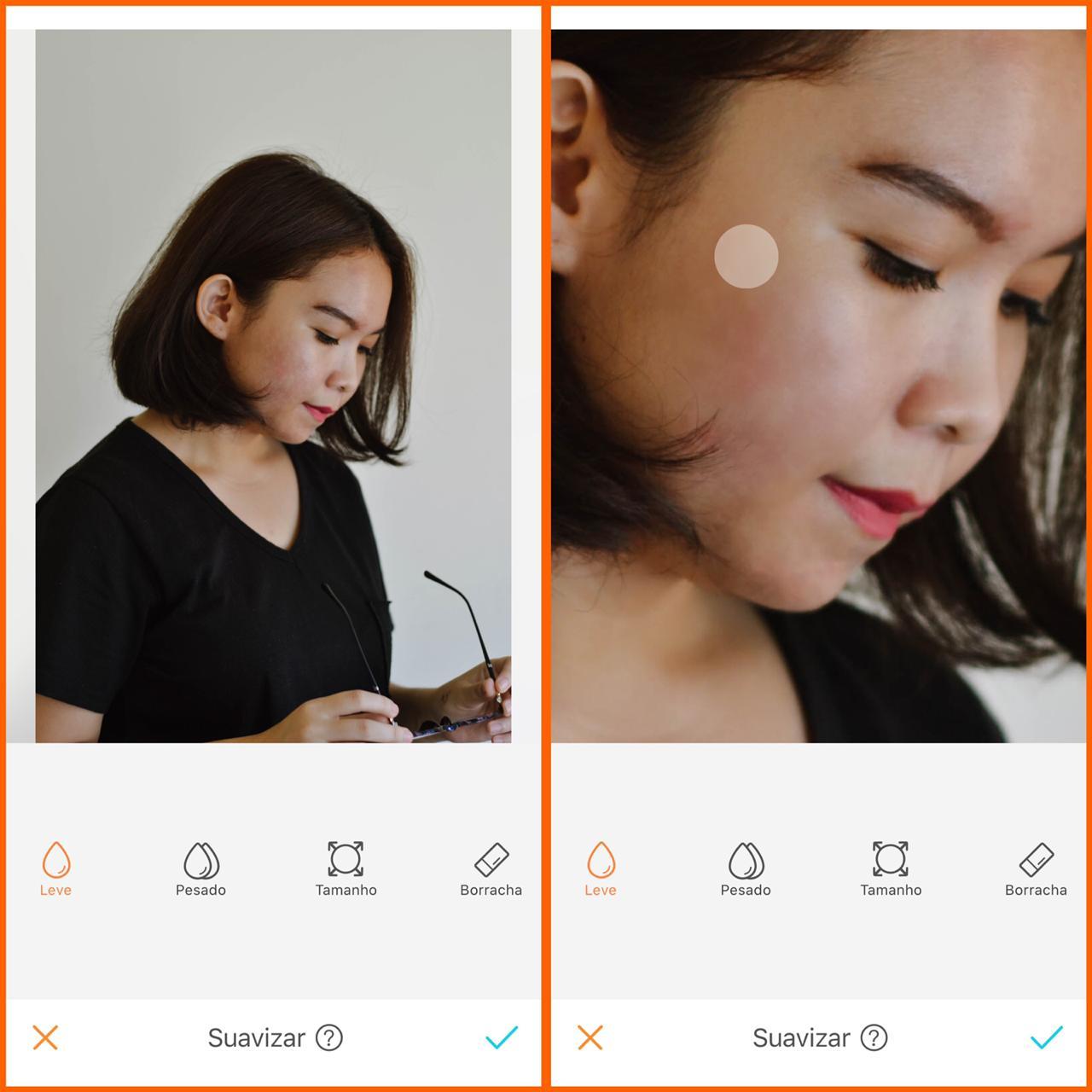 skin care digital ferramenta suavizar