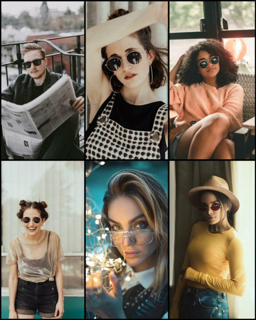 Fotos de óculos: selfies e retratos