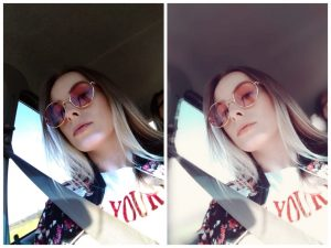 selfie photo sunglasses girl blonde