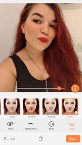 airbrush makeup tool photo editor lips lipstick