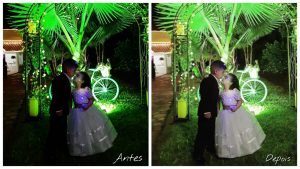 kids wedding night photo