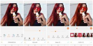 girl icecream red hair editing