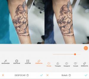 Tutorial de edição de uma tatuagem usando as ferramentas do AirBrush