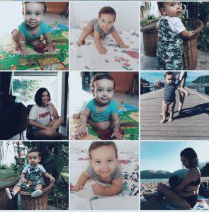 Print do feed do instagram com várias fotos de um bebê usando o filtro FD-5 do AirBrush
