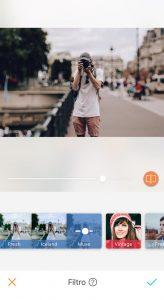 Montagem da foto do homem tirando uma foto usando a ferramenta filtro Muse do AirBrush