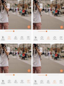 Montagem da foto do homem tirando uma foto usando as ferramentas do AirBrush