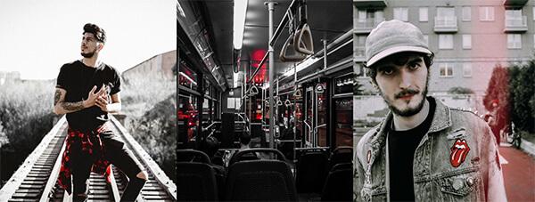 trio de fotos diversas com a cor vermelha predominante usando o filtro SPL-5