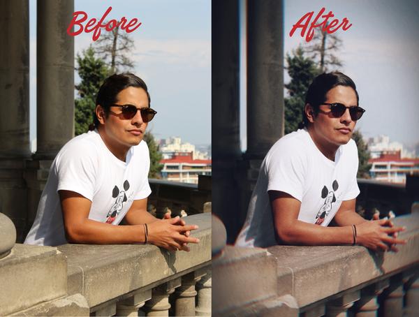 Los hombres también editan Antes y Después