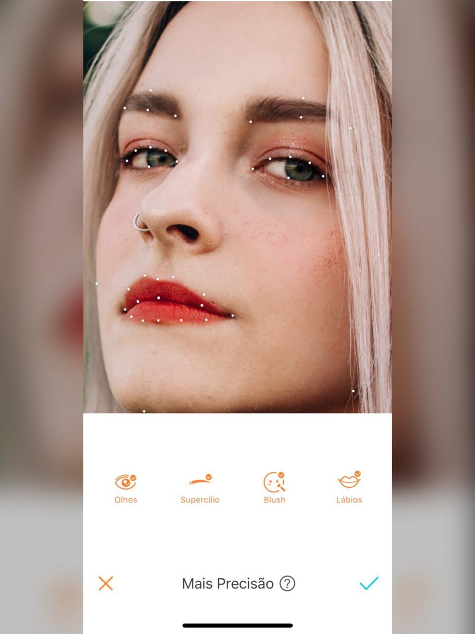 a precisão das maquiagens do airbrush