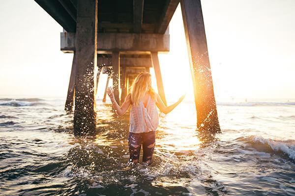 reflexos em fotos na praia