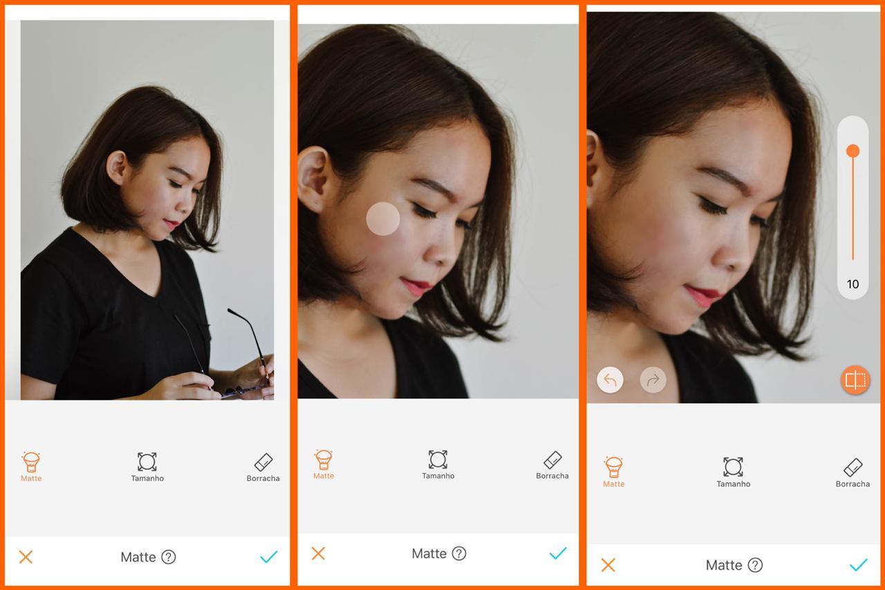 skin care digital ferramenta matte