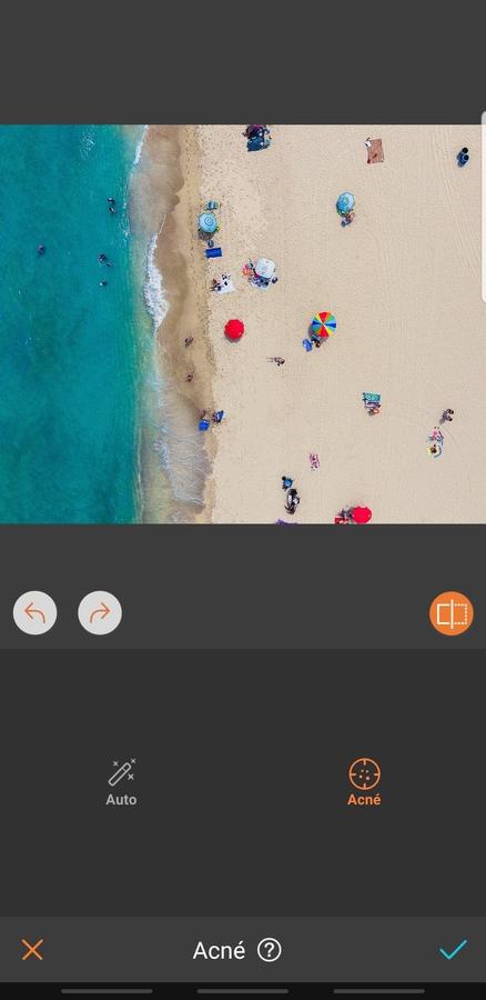 foto aerea de la playa