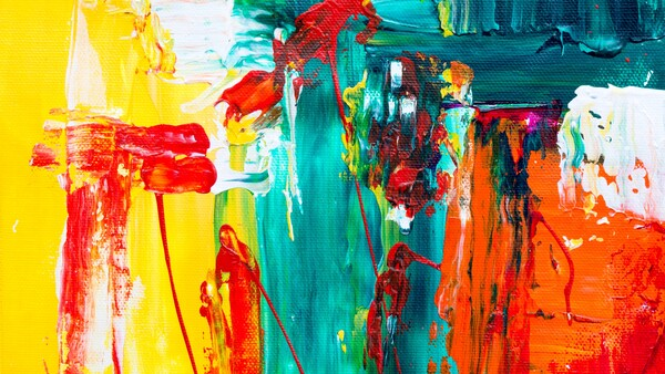 arte abstracto con colores llamativos