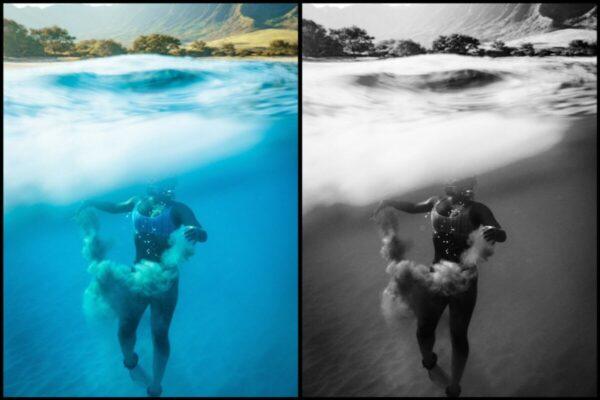 Como fazer fotos com água