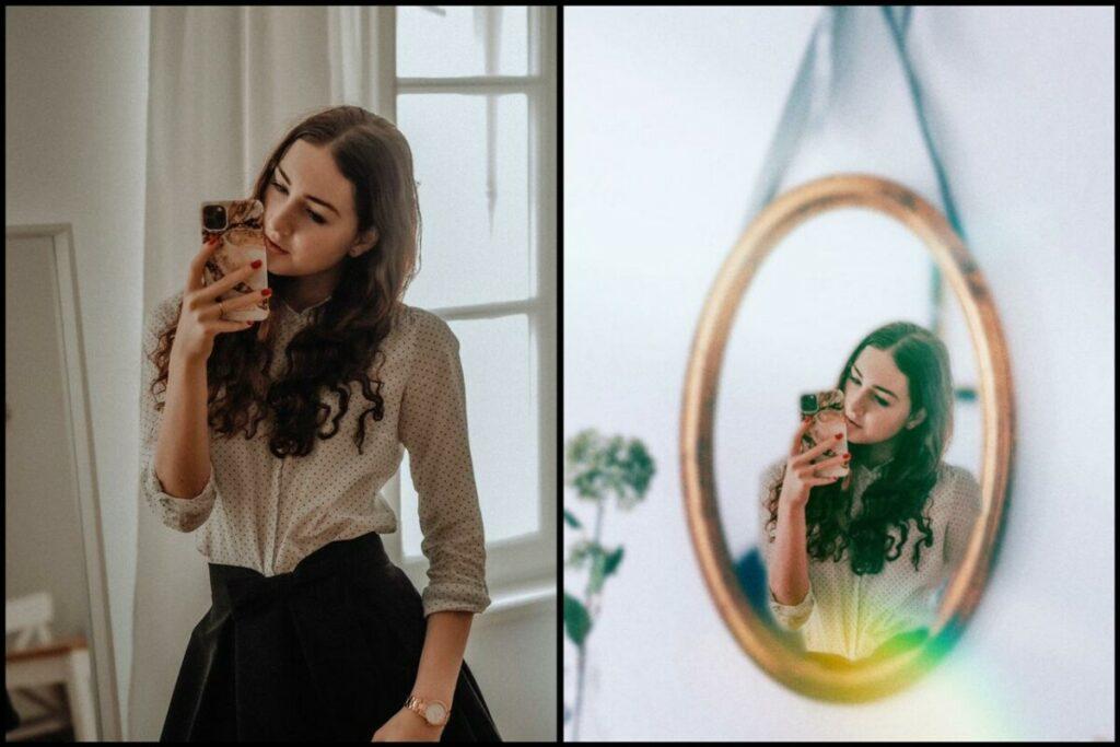 Colocando um espelho em sua foto
