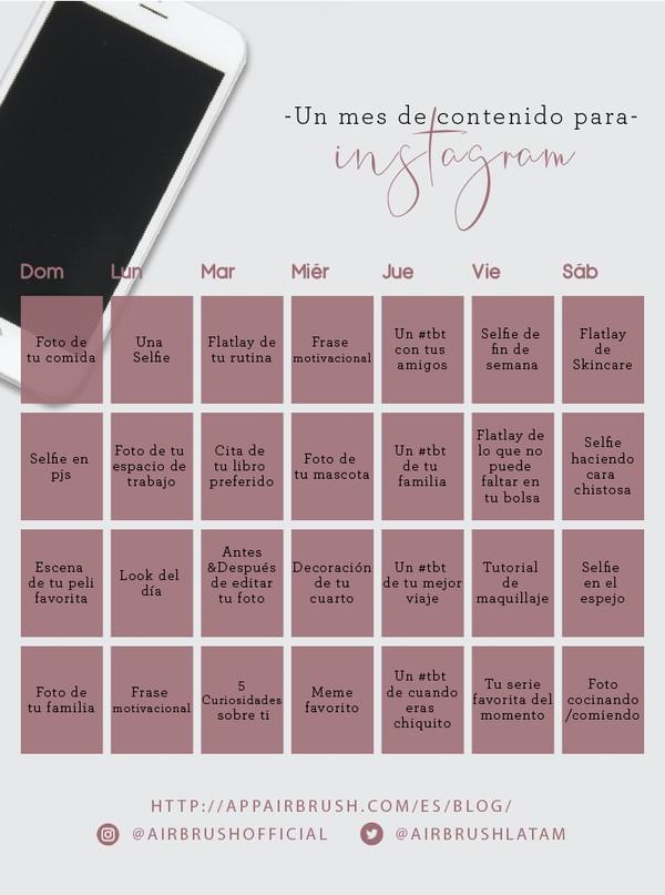 Calendario de contenido