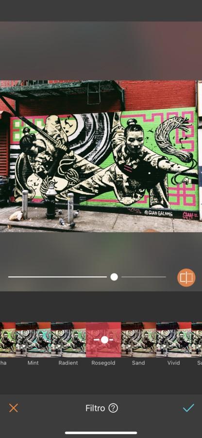 Arte urbano ninja pintado en la pared.