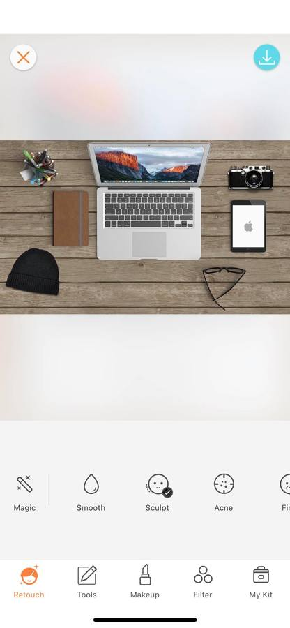 flat lay of laptop, phone, diary on desk