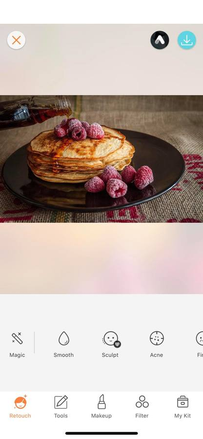 pancakes with fruit on a plate
