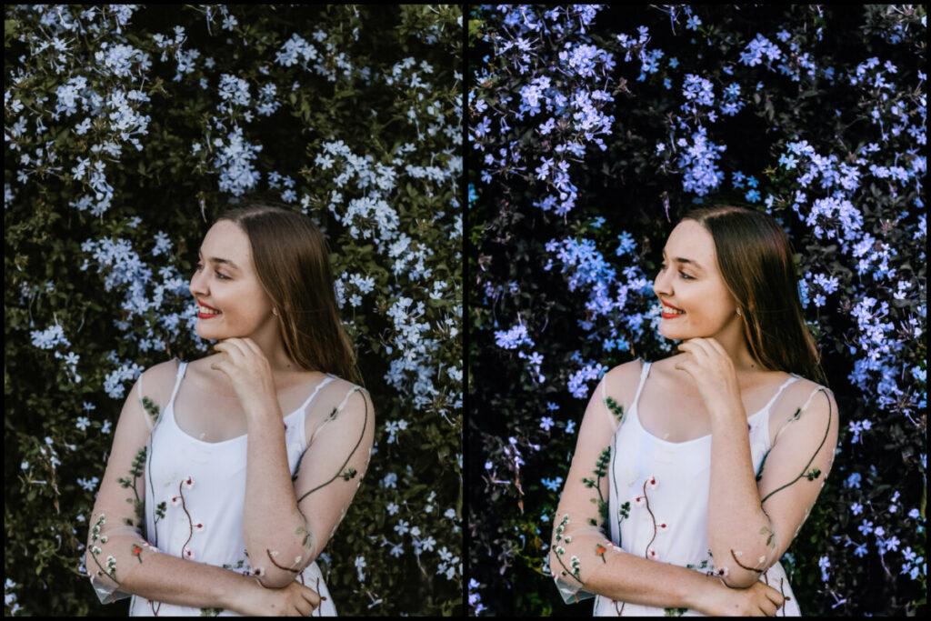 Faça fotos com flores