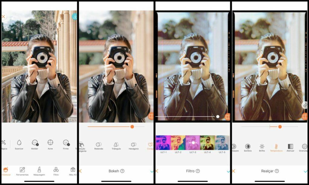 Faça fotos com câmera