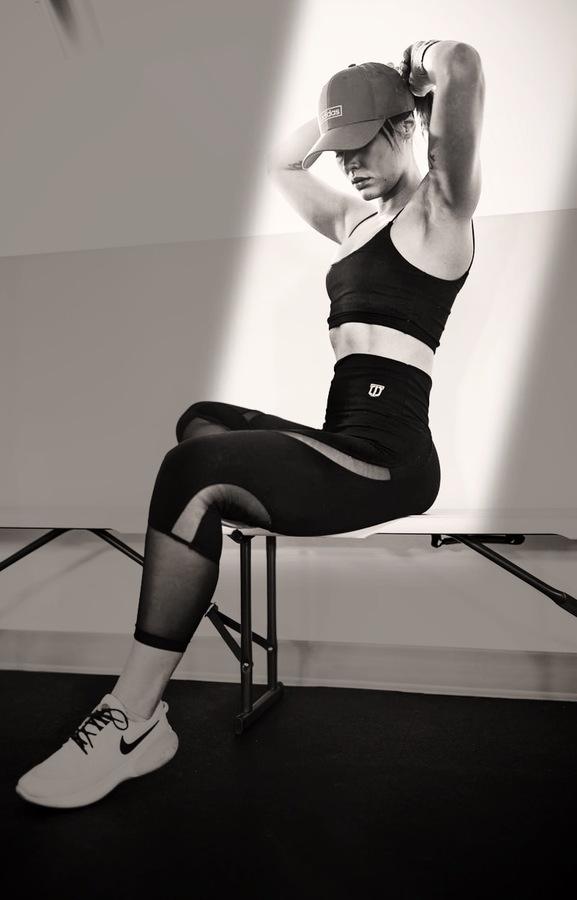 Edición para mujeres desportistas - Fitness blanco y negro