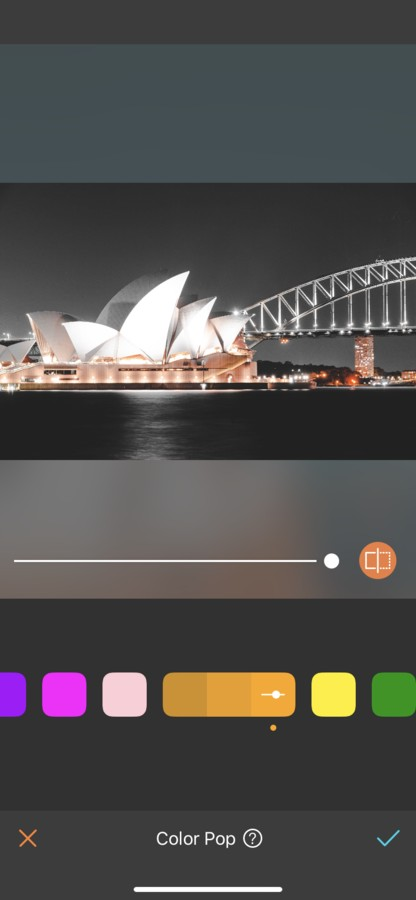 Sydney editada con Color Pop Naranja