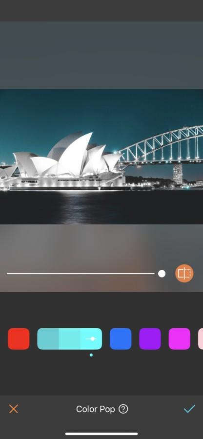 Sydney editada con Color Pop Azul