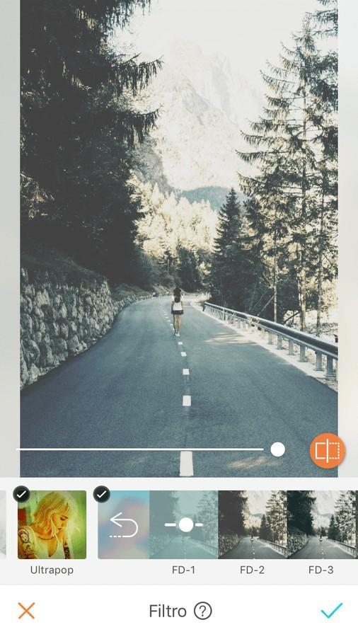 Ediciones para fotos de roadtrip con filtros Fade