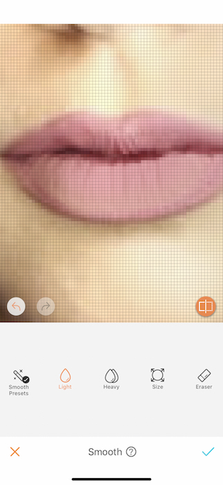 zoomed in photo of pink lips