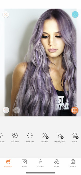 photo of woman with purple hair