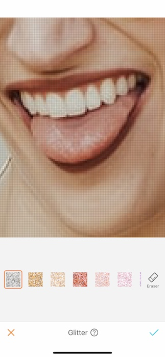 closeup of a woman's mouth wearing red lipstick