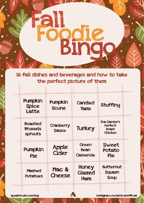 Fall Foodie Bingo