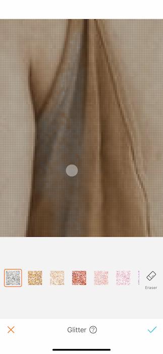 pixelated closeup of a photo