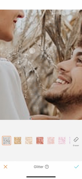 closeup of man and woman smiling at each other