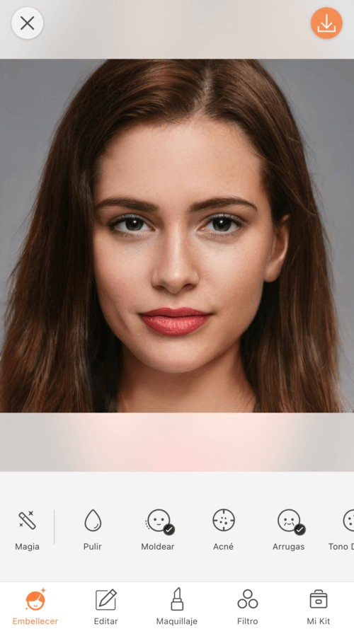 closeup de maquillage de mujer