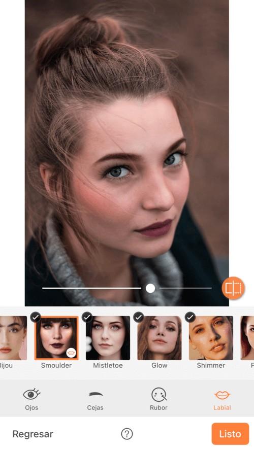 edición de foto con maquillaje virtual