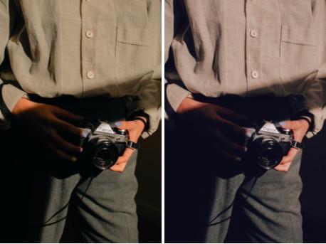 edición de foto de cámara análoga