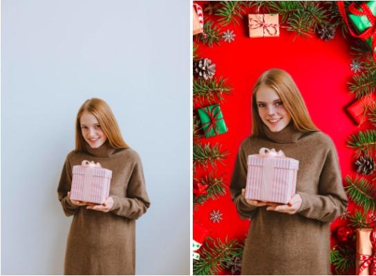 Edición navideña con AirBrush Premium 2