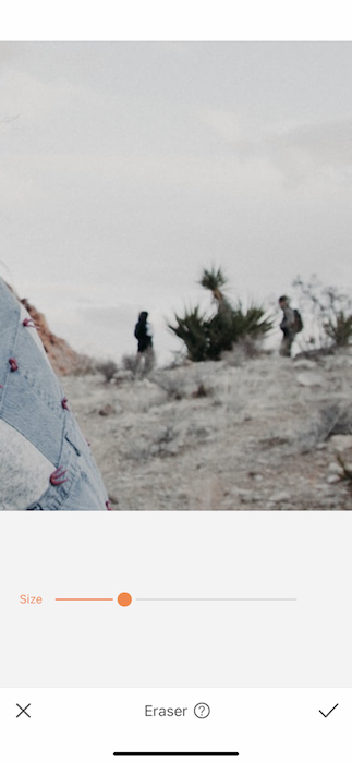 closeup of people in the desert