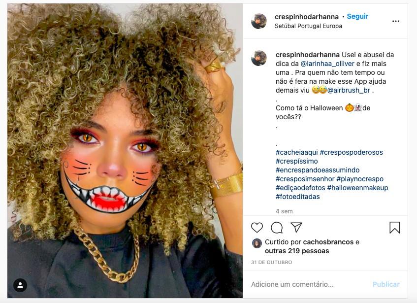 print da foto do instagram da Crespinho da Rhanna