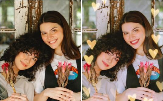 ideas para las mejores fotos con tu mejor amiga: fotos con filtros Love