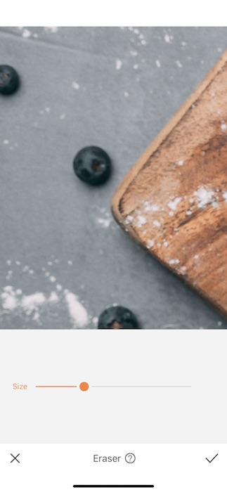 Close up of cutting board and blueberries