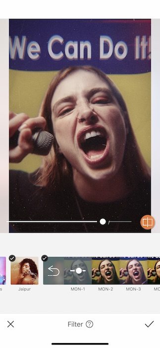 woman screaming into a microphone