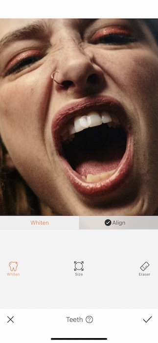 close up of a woman screaming