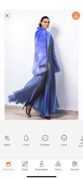 Un look de Fashion Week avec AirBrush13