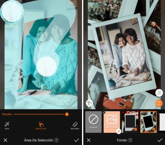 ediciones de foto vintage con mamá